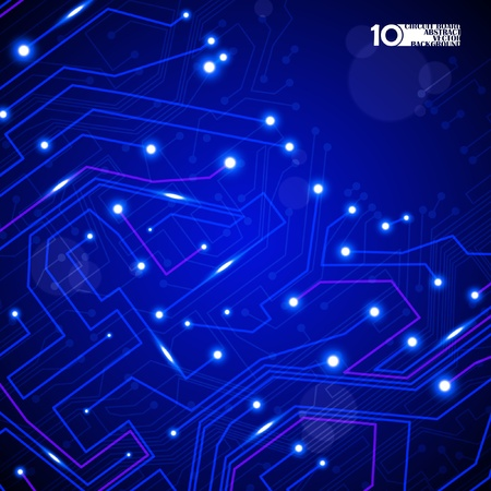 circuit board vector background, technology illustration eps10 Stock Vector - 11759537