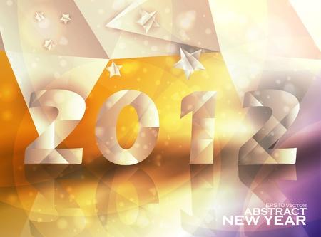 Year 2012  stars vector background, creative illustration eps10 Stock Vector - 11759541
