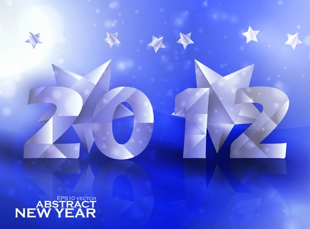 Year 2012  stars vector background, creative illustration eps10 Stock Vector - 11759545