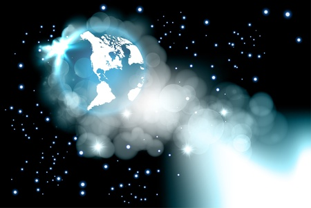 Vector of earth in space, eps10 Vector