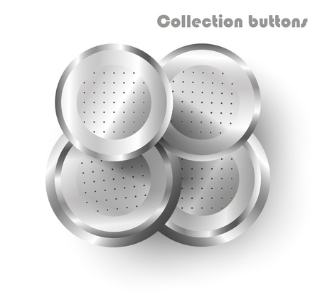 vector steel web buttons Vector