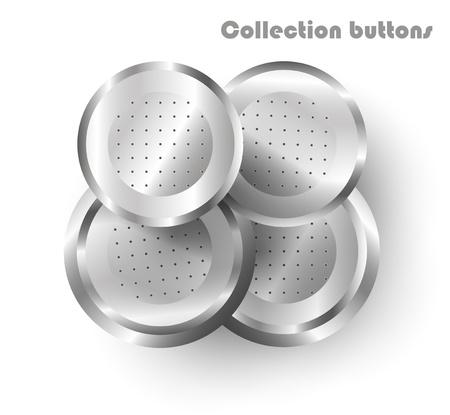 vector steel web buttons Stock Vector - 11760892