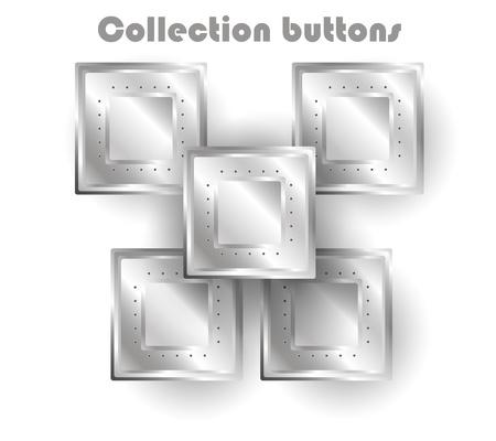 vector steel web buttons Stock Vector - 11760847