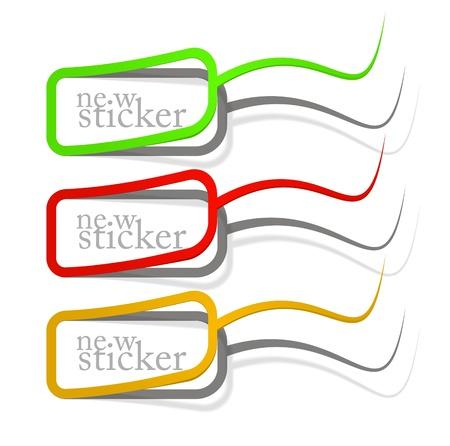 semen: Elementi di design, distintivo pubblicizzare eps10 realistica adesivo Vettoriali