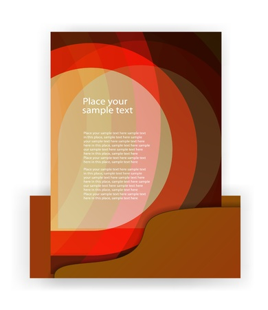 eps10 flyer design elements Vector