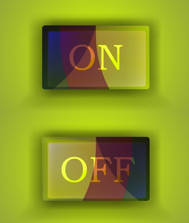 eps10 on off switch Vector