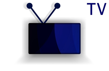 flat screen tv: TV flat screen, technology vector illustration