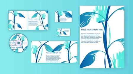 stationery set: design, stationery set, vector eps10