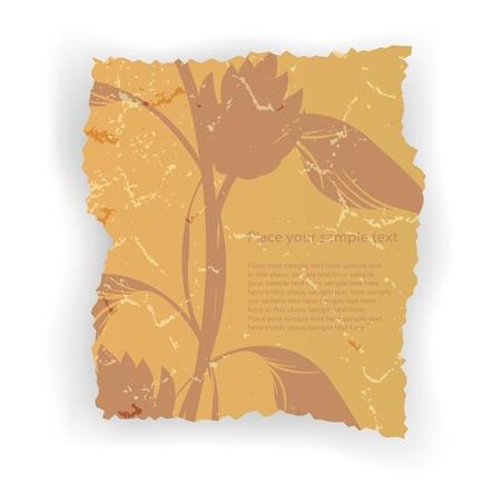 antique paper sheet, ancient antique art, age illustration eps10 Vector