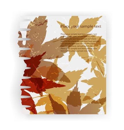 torn paper vector illustration, piece ragged realistic cracked damaged paper eps10 Vector