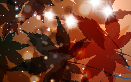 Fantasy autumn background, colorful environment leaf eps10 Vector