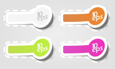 Design elements, badge advertise sticker Vector