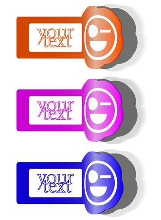 Design elements, badge advertise sticker Иллюстрация