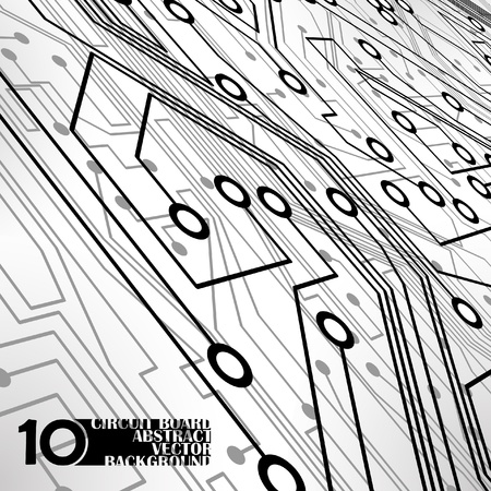 Circuit board background, technology illustration Stock Vector - 11917529