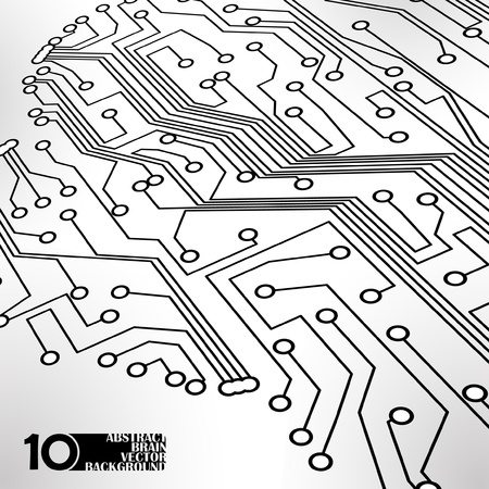 Circuit board background, technology illustration Stock Vector - 11917448