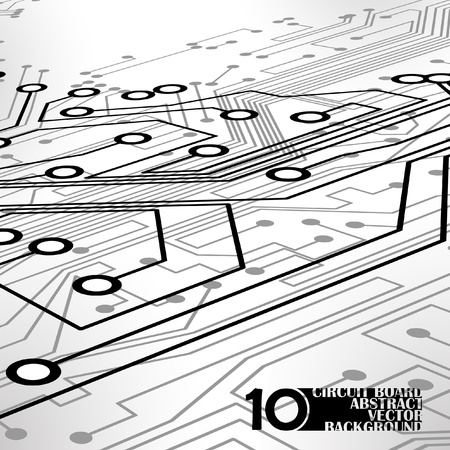 Circuit board background, technology illustration Stock Vector - 11917516