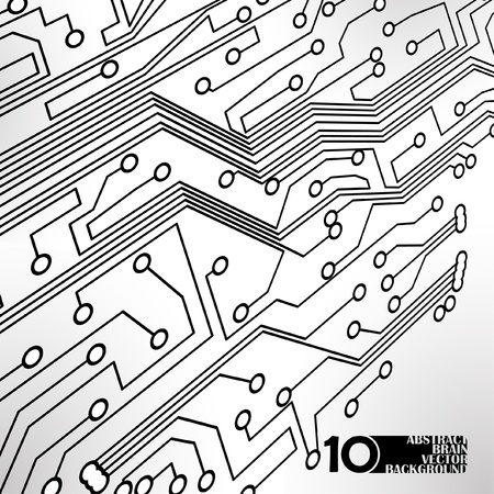Circuit board background, technology illustration Stock Vector - 11917452