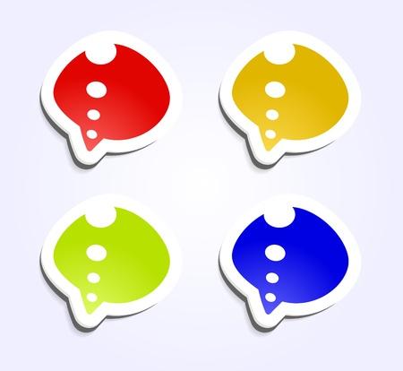Design elements, badge advertise realistic sticker Vector