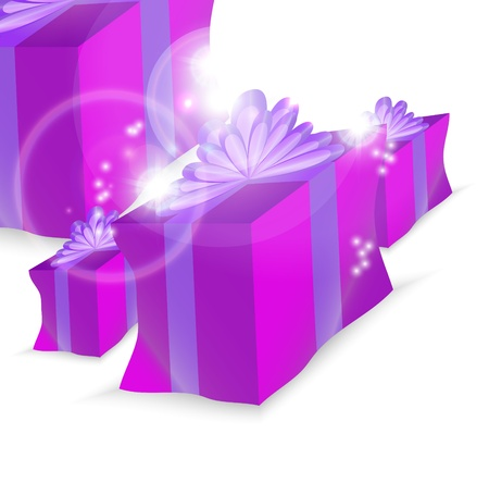 Happy Christmas holiday illustration, festive beautiful gift EPS10 Stock Vector - 11941451