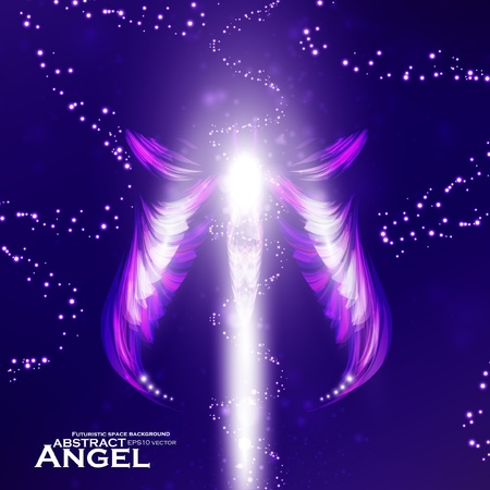 Angel vector futuristic background, wing illustration eps10 Stock Vector - 11990933
