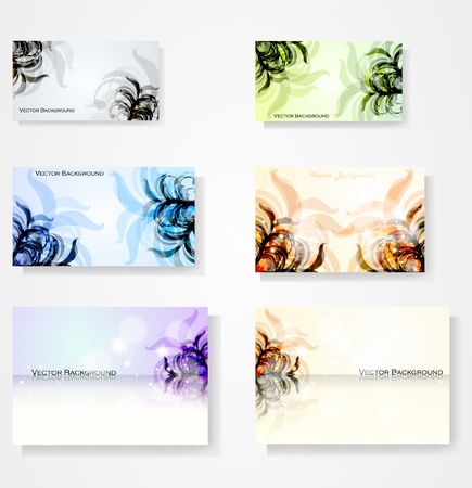 set for floral vector background, abstract stylish illustration eps10 Stock Vector - 11990860