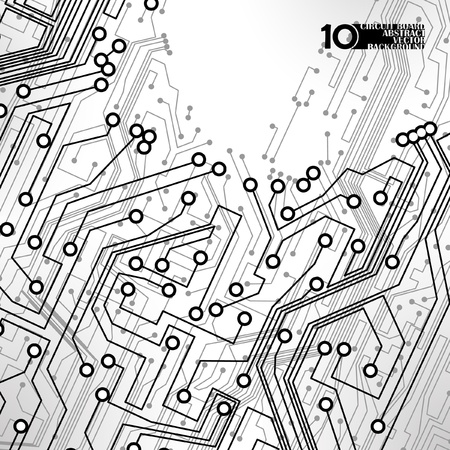 circuitboard: circuito sfondo vettore, illustrazione tecnologia eps10