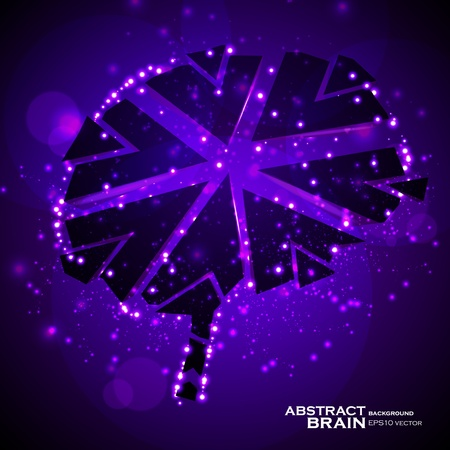 Brain crushing, abstract light background, vector illustration eps10 Vector