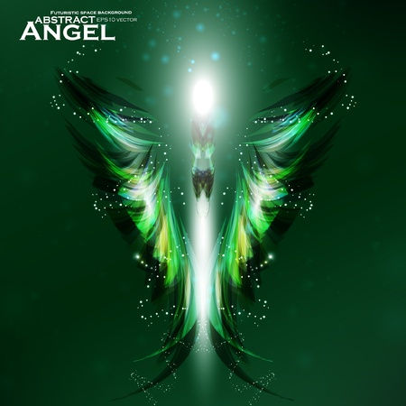 Angel vector futuristic background, wing illustration eps10 Vector