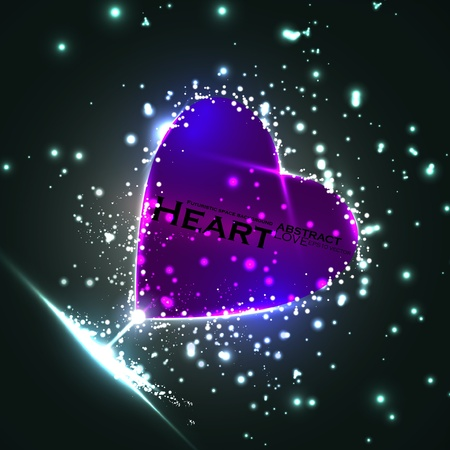 Futuristico cuore, sfondo astratto, illustrazione vettoriale eps10