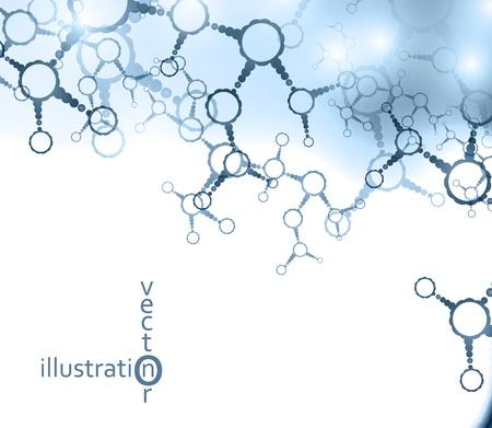 Futuristic dna, abstract molecule, cell illustration eps10 Stock Vector - 12084440