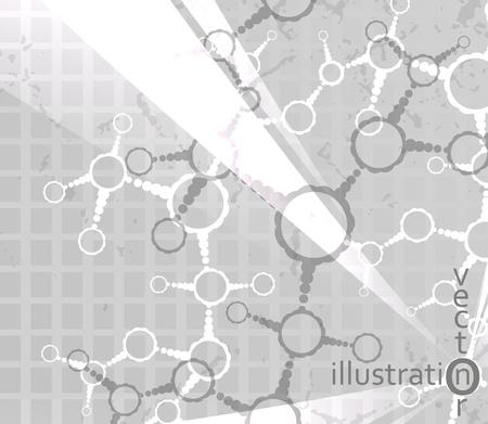 Futuristic dna, abstract molecule, cell illustration eps10 Stock Vector - 12084457