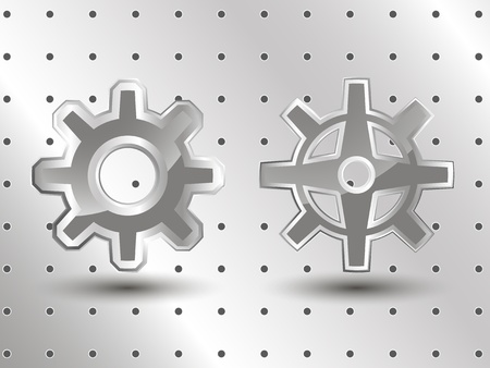 Mechanical object illustration, technical industry background Vector