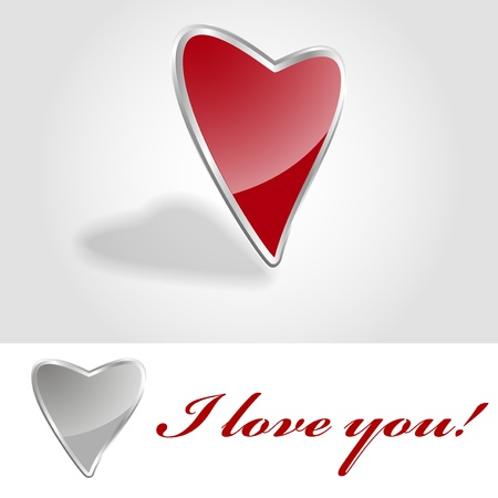 captivated: I love you! Heart vector illustration.