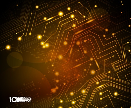 circuit board vector background, technology illustration eps10 Illustration