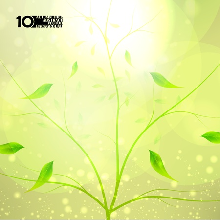 Autumn background, colorful environment leaf, season poster eps10 Vector
