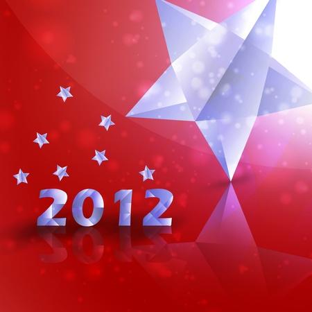 Year 2012  stars background, creative illustration Stock Illustration - 12355635