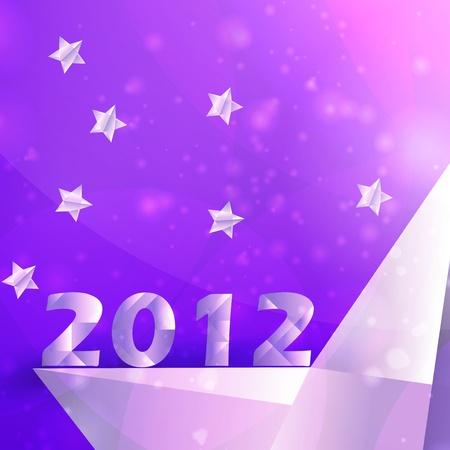 Year 2012  stars background, creative illustration Stock Illustration - 12355633