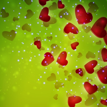 Valentines Hearts background photo