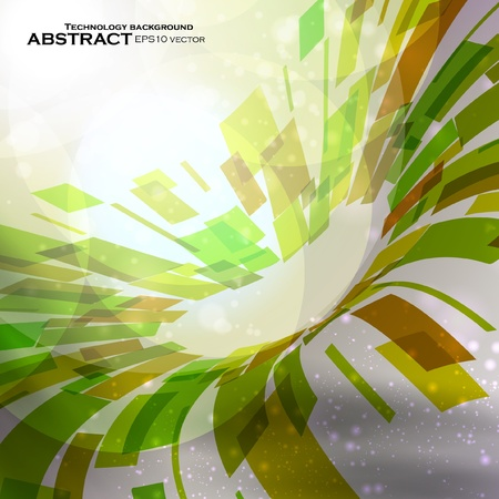 Abstract vector background, futuristic colorful strip, technology illustration  Vector