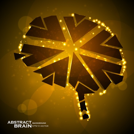 Brain crushing, abstract light background, vector illustration Stock Vector - 12355734