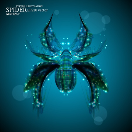 Abstract spider, futuristic colorful strip, stylish vector illustration eps10 Stock Vector - 12355694