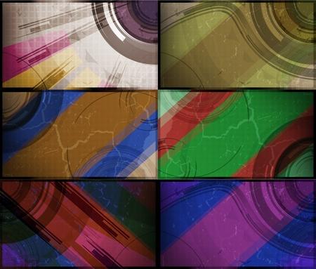 set for abstract background, technology futuristic illustration Stock Illustration - 12355985