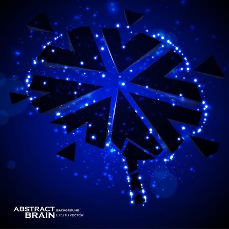 Brain crushing, abstract light background, vector illustration eps10 Vector