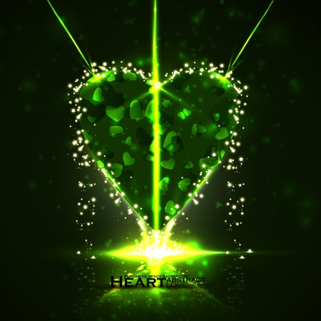 Futuristic heart, abstract background, vector illustration eps10 Stock Vector - 12356040