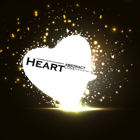Futuristic heart, abstract background, vector illustration eps10 Stock Vector - 12356034