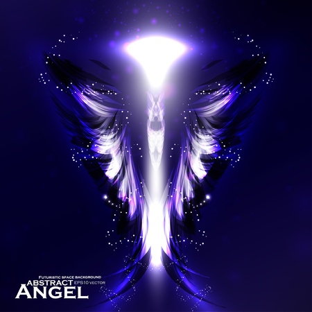 Angel vector futuristic background, wing illustration eps10 Stock Vector - 12356043