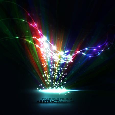 imaginacion: Resumen vector de eps10. Elemento creativo din�mico, ilustraciones l�neas de luz.