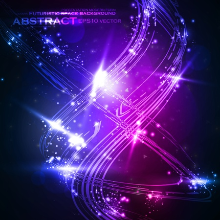 Abstract vector background, shiny space, futuristic wave illustration eps10 Stock Vector - 12356038