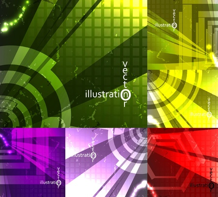 set for abstract vector background, technology futuristic illustration eps10 Vector