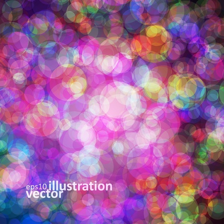 Abstract vector background eps10, colorful lights bubble. Stock Vector - 12356127